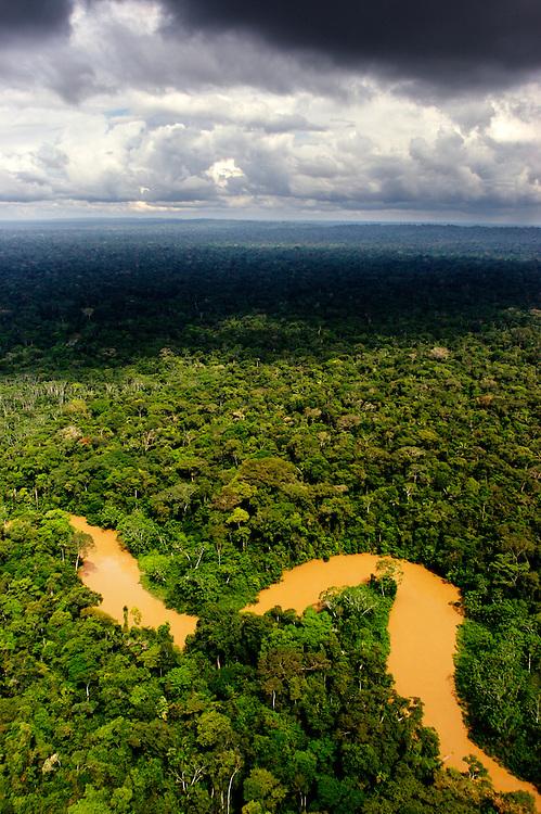 Cononaco River leading into Untouchable Zone, home of uncontacted groups