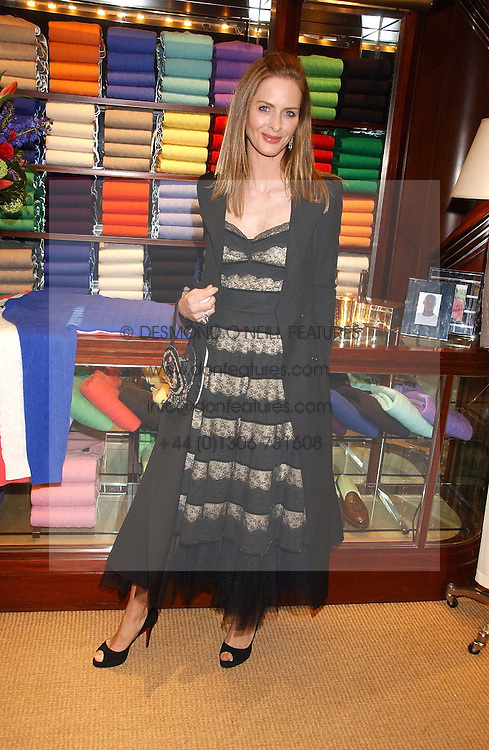 TRINNY WOODALL at a party at Ralph Lauren, Bond Street, London in support of the NSPCC's Full Stop campaign on 21st March 2006.<br />