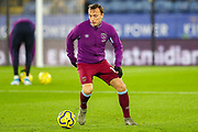 West Ham United midfielder Mark Noble (16) warms up during the Premier League match between Leicester City and West Ham United at the King Power Stadium, Leicester, England on 22 January 2020.