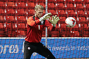Barnsley goalkeeper Adam Davies (1)  during the Sky Bet League 1 match between Barnsley and Coventry City at Oakwell, Barnsley, England on 1 March 2016. Photo by Simon Davies.