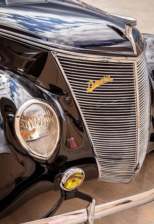 1937 Ford Darrin grill, Planes and Cars at the Santa Fe Airport, 2013 Santa Fe Concorso.
