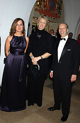 Left to right, JENNIFER LEIGH, MARGOT JAMES and HOWARD LEIGH at a dinner attended by the Conservative leader Michael Howard and David Davis and David Cameron held at the Banqueting Hall, Whitehall, London on 29th November 2005.<br />
