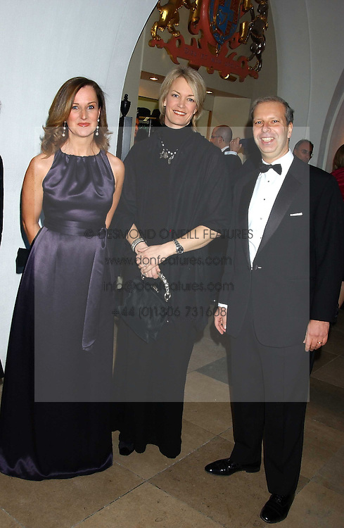Left to right, JENNIFER LEIGH, MARGOT JAMES and HOWARD LEIGH at a dinner attended by the Conservative leader Michael Howard and David Davis and David Cameron held at the Banqueting Hall, Whitehall, London on 29th November 2005.<br /><br />NON EXCLUSIVE - WORLD RIGHTS