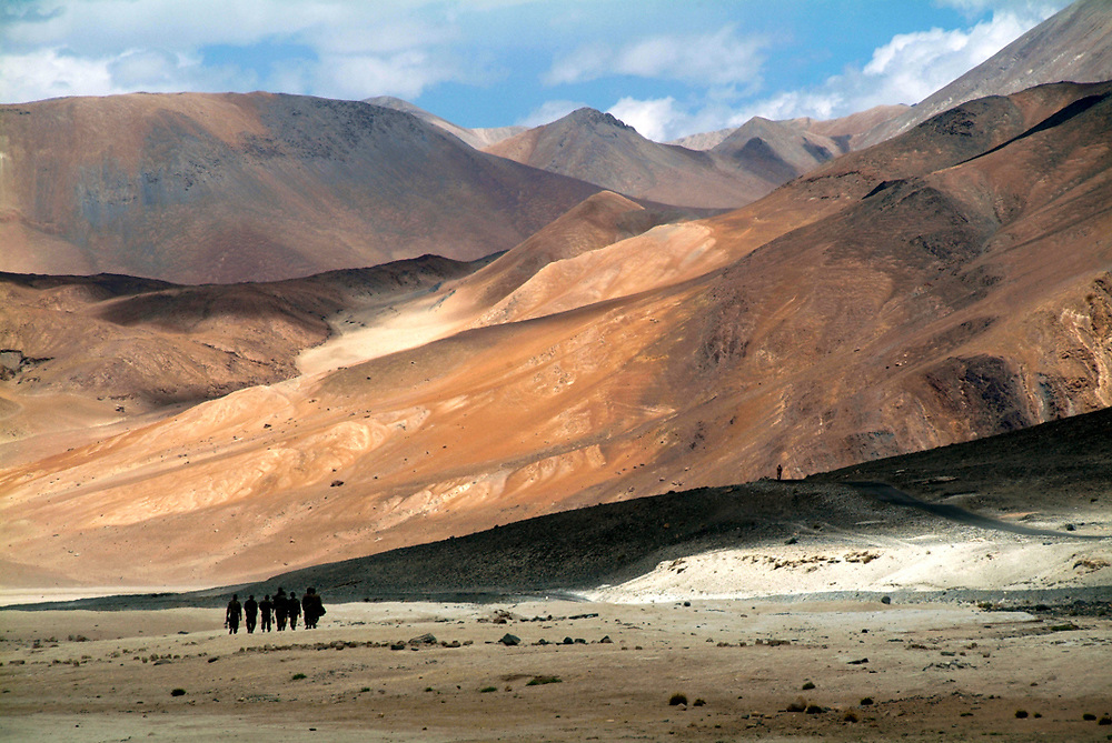 Due to the Himalaya mountain range that block the monsoon clouds, the region of Ladakh is a high altitude desert that receive less than 100mm of rainfall every year. Photo by Lorenz Berna