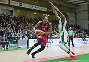 Julian Gamble of Telekom Baskets Bonn and defense of Warren Racine of Nanterre 92 team during the Champions League, Group D, basketball match between Nanterre 92 and Telekom Baskets Bonn on January 24, 2018 at Palais des Sports Maurice Thorez in Nanterre, France - Photo I-HARIS / ProSportsImages / DPPI