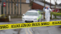 © licensed to London News Pictures. Cheshire, UK. File picture dated 04/03/2012. Police and forensics at the scene where A man has been shot dead in Culcheth, Cheshire, on March 4, 2012 following a police operation. The IPCC today (04/04/2012) confirmed that a criminal investigation will be launched into police officer who shot dead the unarmed man in Cheshire last month. Photo credit should read Joel Goodman/LNP