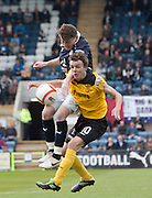 Dundee's Nicky Riley and Livingston's Stefan Scougall  - Dundee v Livingston, Irn Bru Scottish Football League First Division at Dens Park..© David Young - 5 Foundry Place - Monifieth - DD5 4BB - Telephone 07765 252616 - email: davidyoungphoto@gmail.com - web: www.davidyoungphoto.co.uk