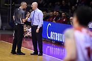Menetti Massimiliano<br /> Grissin Bon Pallacanestro Reggio Emilia - Openjobmetis Varese <br /> Lega Basket Serie A 2017/2018<br /> Reggio Emilia, 16/12/2017<br /> Foto A.Giberti / Ciamillo - Castoria