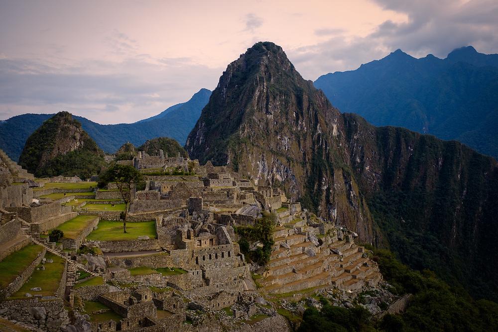 MACHU PICCHU, PERU - CIRCA OCTOBER 2015:  View of Machu Picchu in Peru