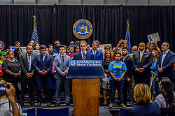 September 6, 2017 - New York, New York, United States - New York Attorney General Eric T. Schneiderman  - On September 6, 2017; New York Attorney General Eric T. Schneiderman led a coalition of 16 Attorneys General in filing suit to protect Deferred Action for Childhood Arrivals (DACA) grantees. Lawsuit Argues That Trump Administration Violates Due Process Rights; Harms States' Residents, Institutions, And Economies; And Violates The Equal Protection Clause By Discriminating Against DREAMers Of Mexican Origin, Who Account For 78% Of DACA Grantees. (Credit Image: © Erik Mcgregor/Pacific Press via ZUMA Wire)