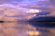 Lake McDonald and storm clearing in late fall. Glacier National Park, northwest Montana.