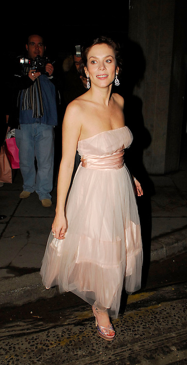 01.FEBRUARY.2007. LONDON<br /> <br /> A WORSE FOR WEAR LOOKING ANNA FRIEL WHO IS WEARING A WHITE BALLGOWN LEAVING THE P&amp;G BEAUTY AWARDS AT THE HAYWARD GALLERY IN SOUTH BANK AT 12.30 WITH A FRIEND.<br /> <br /> BYLINE: EDBIMAGEARCHIVE.CO.UK<br /> <br /> *THIS IMAGE IS STRICTLY FOR UK NEWSPAPERS AND MAGAZINES ONLY*<br /> *FOR WORLD WIDE SALES AND WEB USE PLEASE CONTACT EDBIMAGEARCHIVE - 0208 954 5968*