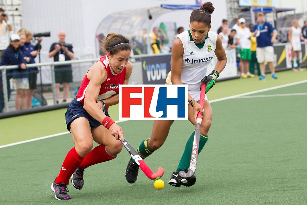 THE HAGUE - Rabobank Hockey World Cup 2014 - 10-06-2014 - WOMEN - USA - SOUTH AFRICA - Melissa Gonzalez (l) en <br /> Copyright: Willem Vernes