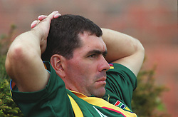 South Africa captain Hansie Cronje takes it easy