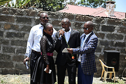 March 22, 2019 - Nakuru, Riftvalley, Kenya - Mr Paul Njoroge seen mourning his departed loved ones  during the memorial service..Neighbors to the victims of the Ethiopian Airways Flight ET302 crash held a memorial service in Nakuru Kenya. Five members of one family perished in the ill-fated flight. (Credit Image: © James Wakibia/SOPA Images via ZUMA Wire)