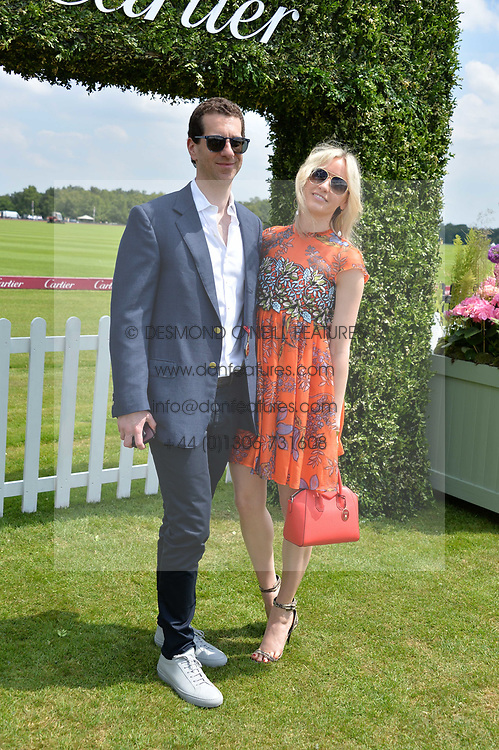 Marlon & Nadja Abela at Cartier Queen's Cup Polo, Guard's Polo Club, Berkshire, England. 18 June 2017.<br /> Photo by Dominic O'Neill/SilverHub 0203 174 1069 sales@silverhubmedia.com