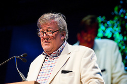 © London News Pictures. 24/05/2015. Hay-on-Wye, Powys, Wales, UK. Stephen Fry at the Letters Live event featuring Jude Law, Louise Brealey, Sarah Lancashire, Sandi Toksvig, Colm Tóibín, Andrew O'Hagan, Kelvin Jones, Lisa Dwan and Stephen Fry. Photo credit : Graham M. Lawrence/LNP.
