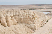 Israel, Dead Sea, Qumran Cave IV where the majority of the Dead Sea scrolls were found