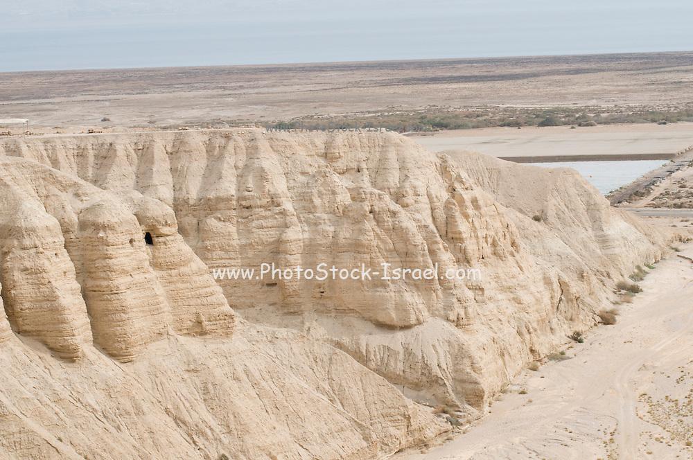 Israel, Dead Sea, Qumran Cave IV where the majority of the Dead Sea scrolls were found