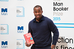 Royal Festival Hall, London, October 12th 2015. Man Booker Prize for Fiction Finalists gather at the Royal Festival Hall on the eve of the £50,000 prize winner's announcement. PICTURED: Nigerian writer Chigozie Obioma, author of The Fishermen, published by ONE and Pushkin Press.