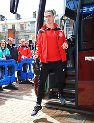 Bristol City players arrive at Ewood Park  - Mandatory by-line: Matt McNulty/JMP - 23/04/2016 - FOOTBALL - Ewood Park - Blackburn, England - Blackburn Rovers v Bristol City - Sky Bet Championship
