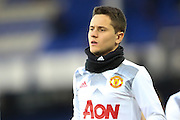 Ander Herrera Midfielder of Manchester United warms up before the Premier League match between Everton and Manchester United at Goodison Park, Liverpool, England on 4 December 2016. Photo by Simon Brady.