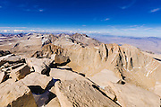 Mount Russell and the Sierra crest from the summit of Mount Whitney, Sequoia National Park, California USA