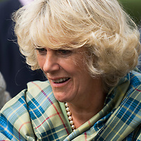 HRH  the Duchess of Cornwall during a visit to a community project in Craigmillar, June 2006.<br />