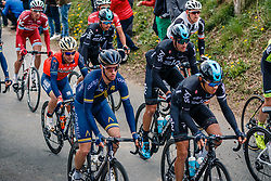 Peloton with MOSCON Gianni of Team Sky during the UCI WorldTour 103rd Liège-Bastogne-Liège from Liège to Ans with 258 km of racing at Cote de Pont, Belgium, 23 April 2017. Photo by Pim Nijland / PelotonPhotos.com | All photos usage must carry mandatory copyright credit (Peloton Photos | Pim Nijland)