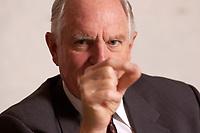 30 OCT 2003, BERLIN/GERMANY:<br /> Craig Barrett, CEO Intel Corp., waehrend einem  Interview, Hotel Palace<br /> IMAGE: 20031030-01-029<br /> KEYWORDS: Chef, Intel-Chef