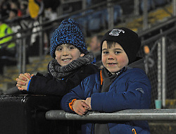 Young Westport supporters Paddy Kettrick and Jamie Holmes watching the u21 final at McHale park.<br /> Pic Conor McKeown