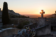 Graves at sunset above Les Baux de Provence, France. © Brett Wilhelm