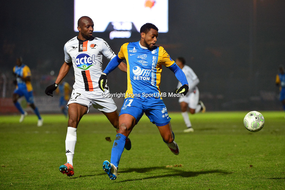 Frederic PIQUIONNE / Djibril KONATE - 23.01.2015 - Creteil / Laval - 21eme journee de Ligue 2<br /> Photo : Dave Winter / Icon Sport