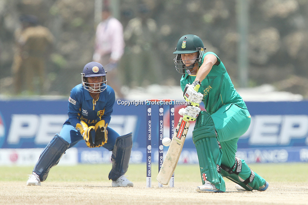 Shandre Fritz during the ICC Women's World Twenty20 - 1st Match, Group B, between South Africa and Sri Lanka held at the Galle International Stadium in Galle, Sri Lanka on the 26th September 2012<br /> <br /> Photo by Ron Gaunt/SPORTZPICS
