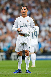 Cristiano Ronaldo of Real Madrid looks on - Mandatory byline: Rogan Thomson/JMP - 04/05/2016 - FOOTBALL - Santiago Bernabeu Stadium - Madrid, Spain - Real Madrid v Manchester City - UEFA Champions League Semi Finals: Second Leg.