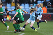 Manchester City Women's Lauren Hemp (15) steals the ball from Brighton Womens defender (26) Elanor Hack during the FA Women's Super League match between Manchester City Women and Brighton and Hove Albion Women at the Sport City Academy Stadium, Manchester, United Kingdom on 27 January 2019.
