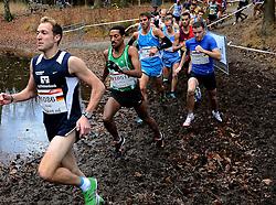 25-11-2012 ATLETIEK: NK CROSS WARANDELOOP: TILBURG<br /> 1086 Tobias Grobl GER, Winnaar Dame Tasama BEL, Igor Geletiy 1085 OEK<br /> ©2012-FotoHoogendoorn.nl