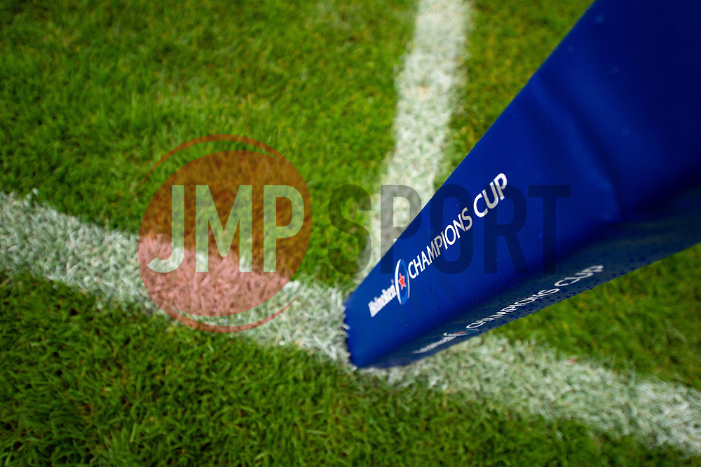 A general view of a Heineken Champions Cup branded corner flag - Mandatory byline: Patrick Khachfe/JMP - 07966 386802 - 13/10/2018 - RUGBY UNION - The Recreation Ground - Bath, England - Bath Rugby v Toulouse - Heineken Champions Cup