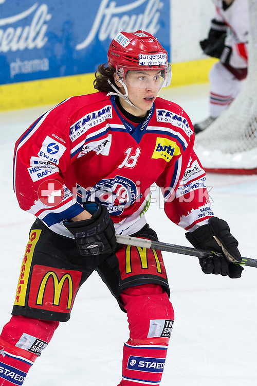 Rapperswil-Jona Lakers forward Toni Szabo during the third Elite B 1/2 final Playoff ice hockey game between Rapperswil-Jona Lakers and EHC Visp held at the SGKB Arena in Rapperswil, Switzerland, Friday, Mar. 3, 2017. (Photo by Patrick B. Kraemer / MAGICPBK)