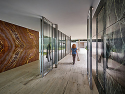 I finally managed to visit Mies Van Der Rohe's Barcelona Pavilion with my wife at the end of 2017. As we were wandering around this, for me, perfect composition presented itself, with the reflections blurring the lines between the solid and transparent planes of Mies' masterpiece.