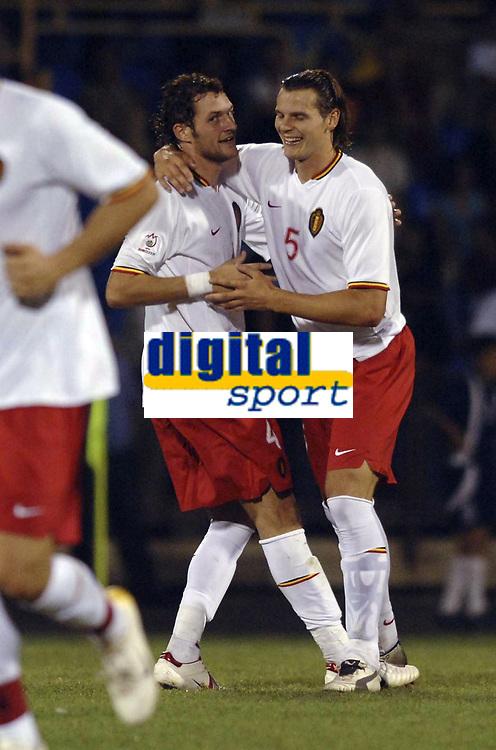 Fotball<br /> Nederland<br /> 06.09.2006<br /> EM-kvalifisering<br /> Armenia v Belgia<br /> Foto: ProShots/Digitalsport<br /> NORWAY ONLY<br /> <br /> VAN DAMME JELLE / VAN BUYTEN DANIEL