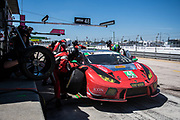 March 15-17, 2018: Mobil 1 Sebring 12 hour. 48 Paul Miller Racing, Lamborghini Huracan GT3, Bryan Sellers, Corey Lewis, Madison Snow pitstop