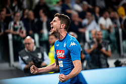 April 22, 2018 - Turin, Piedmont/Turin, Italy - Dries Martens durig the Serie A match Juventus FC vs Napoli. Napoli won 0-1 at Allianz Stadium, in Turin, Italy 22nd april 2018 (Credit Image: © Alberto Gandolfo/Pacific Press via ZUMA Wire)