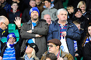 Eastleigh fans in the crowd before the The FA Cup third round match between Eastleigh and Bolton Wanderers at Silverlake Stadium, Ten Acres, Eastleigh, United Kingdom on 9 January 2016. Photo by Graham Hunt.