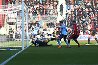 Football - 2017 / 2018 Premier League - AFC Bournemouth vs. Newcastle United<br /> <br /> Dwight Gayle of Newcastle United pounces on Bournemouth's Asmir Begovic mistake to score his second goal at Dean Court (Vitality Stadium) Bournemouth <br /> <br /> COLORSPORT/SHAUN BOGGUST