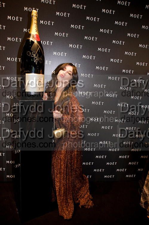 SABRINA IMPALADORE, A Tribute to Cinema party given by Moet and Chandon.Big Sky Studios, Brewery Rd. London.  24 March 2009 *** Local Caption *** -DO NOT ARCHIVE-© Copyright Photograph by Dafydd Jones. 248 Clapham Rd. London SW9 0PZ. Tel 0207 820 0771. www.dafjones.com.<br /> SABRINA IMPALADORE, A Tribute to Cinema party given by Moet and Chandon.Big Sky Studios, Brewery Rd. London.  24 March 2009