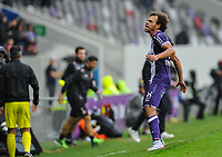 Fotball<br /> Frankrike<br /> Foto: Panoramic/Digitalsport<br /> NORWAY ONLY<br /> <br /> But et joie Martin Braithwaite (tfc)<br /> Toulouse vs St Etienne - Day1 French L1 - 08/09/2015