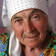 Portrait of a woman in a old persons refuge outside of Kiev in Ukraine