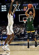 Ben Diamond (13) of Siena shoots over Naji Marshall (13) of Xavier during an NCAA college basketball game, Friday, Nov. 8, 2019, at the Cintas Center in Cincinnati, OH. Xavier defeated Siena 81-63. (Jason Whitman/Image of Sport)