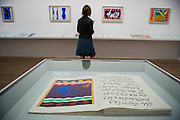 "A room dedicated to his book Jazz. Tate Modern's new exhibition, Henri Matisse: The Cut-Outs, is devoted to the artist's paper cut-outs made between 1943 and 1954. It brings together around 120 works, many seen together for the first time, in a ""groundbreaking"" reassessment of Matisse's colourful and innovative final works. The exhibition opens at Tate Modern on 17 April 2014. They were collected together in Jazz 1947 (Pompidou, Paris), a book of 20 plates. And this will be the first time that the maquettes and the book have been shown together outside of France. Other major cut-outs in the exhibition include Tate's The Snail 1953, its sister work Memory of Oceania 1953 and Large Composition with Masks 1953. The show also includes the largest number of Matisse's Blue Nudes ever exhibited together, including the most significant of the group Blue Nude I 1952. Tate Britain, London, UK."